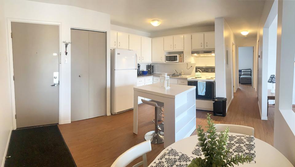 Appartement modèle coin à louer. Sherbrooke.